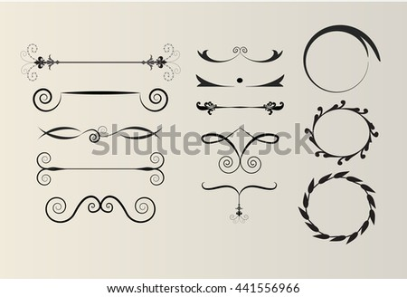 stock-vector-vintage-swirl-design-element-set-page-decoration-vector-illustration