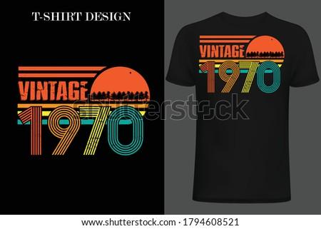 vintage 1970 t-shirt design. retro style vintage t-shirt design. Stockfoto ©