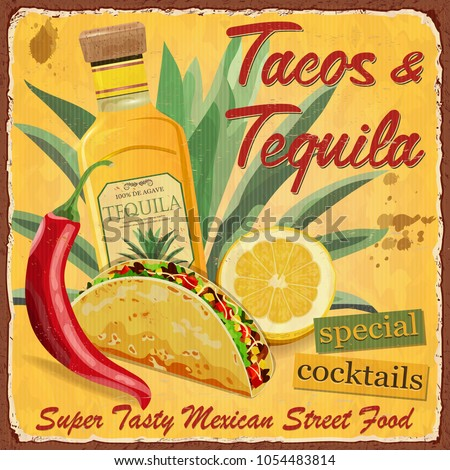 vintage tacos and tequila ...