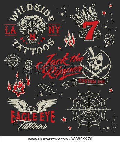 vintage tattoo parlour graphic