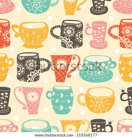 vintage tea porcelain vector