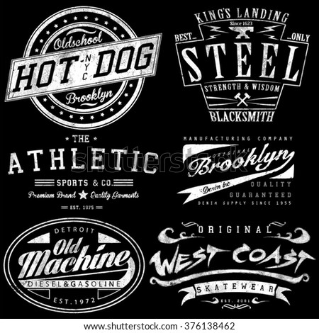 vintage tee graphics set