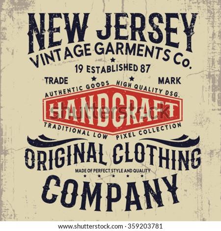 vintage tee print design with...