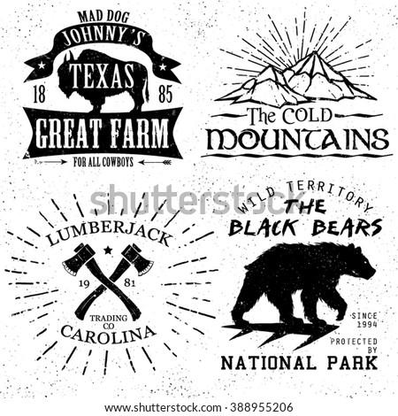 vintage tee shirt graphic set