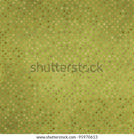 Vintage texture with retro polka pattern. And also includes EPS 8 vector