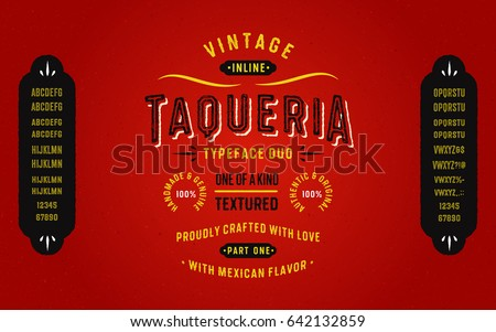 Vintage Textured Typeface Duo with Mexican Flavor