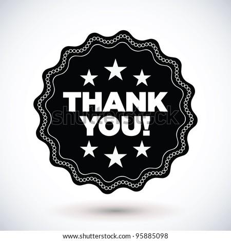 "Vintage ""thank you"" label"