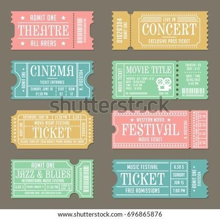 vintage concert ticket vector download free vector art stock