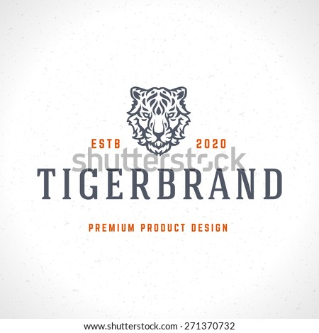 vintage tiger logotype or