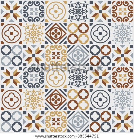 vintage tile pattern. vector...