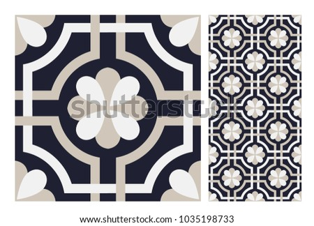 vintage tiles patterns antique...