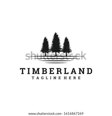 vintage timberland logo design, concept vector illustrations