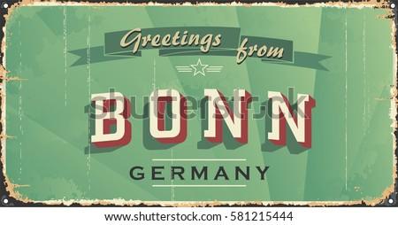 vintage tin sign. bonn city...