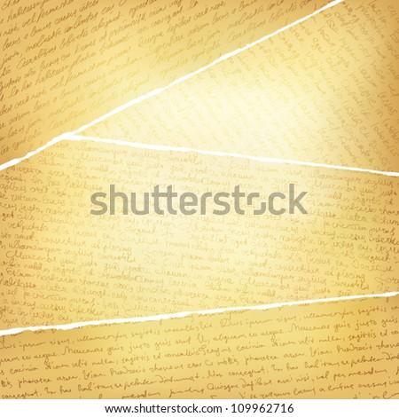Vintage torn pages background, vector, EPS10