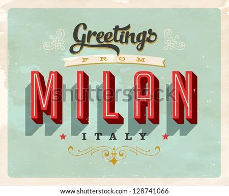 Vintage Touristic Greeting Card - Milan, Italy