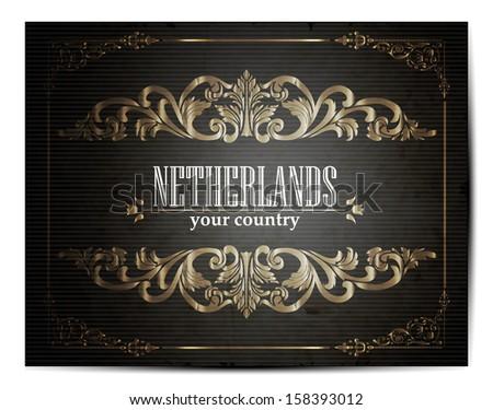 Vintage netherland maps download free vector art stock graphics vintage touristic greeting card netherlands vector eps10 m4hsunfo