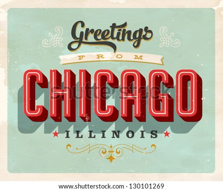 Vintage Touristic Greeting Card - Vector EPS10. Grunge effects can be easily removed for a brand new, clean sign.