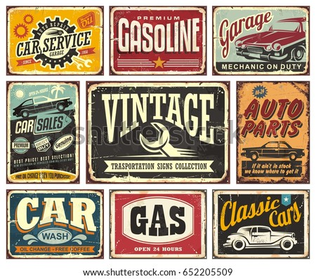 vintage transportation signs