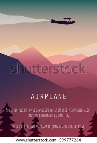 vintage travel poster retro