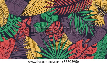 vintage tropic pattern design