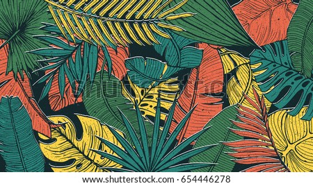vintage tropic pattern design....