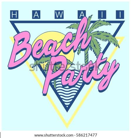 vintage tropical graphic