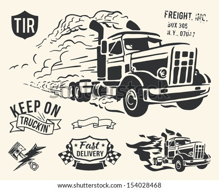 vintage truck delivery theme on ...