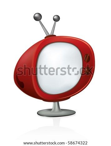 Vintage TV. Simple to edit. Retro vector collection.