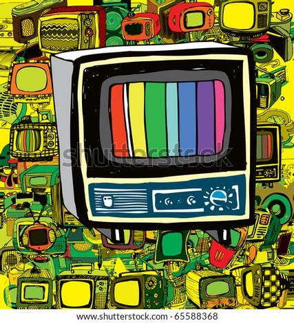 Vintage TV (vector)