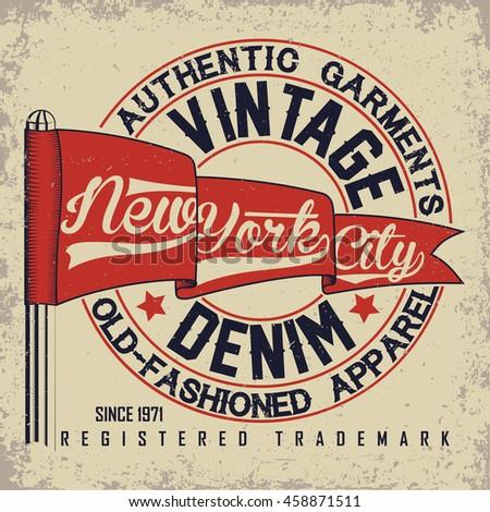 vintage typography emblem
