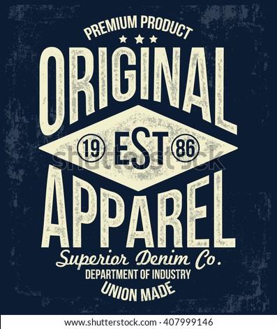vintage typography  t shirt