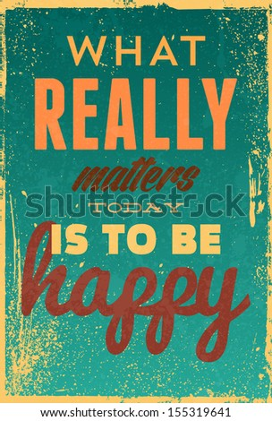 Vintage typography vector illustration with grunge effects Can be used as a poster or postcard
