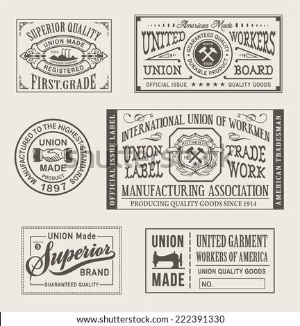 vintage union manufacturing...