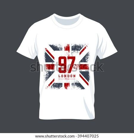 vintage united kingdom flag tee