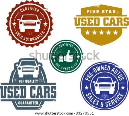 Okay Used Car Vintage Sign, Vintage Garage Signs by SignPast