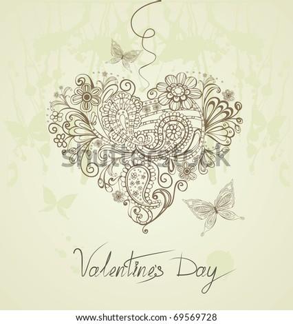 Vintage Valentine's Day background
