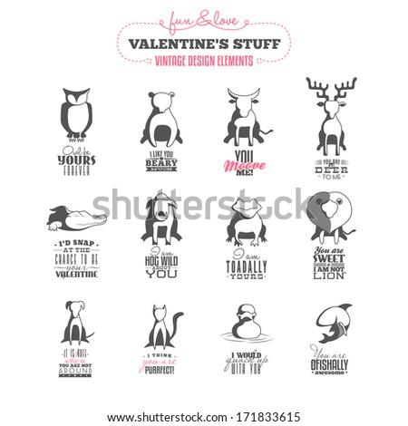vintage valentine's day  design