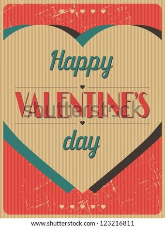 Vintage Valentines Day type text calligraphic background.