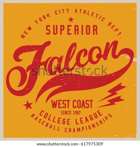 Vintage Varsity graphics and Emblem with grunge background. #617975309