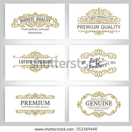 Vintage Vector Banners Labels Frames. Calligraphic Design Elements . Decorative Swirls,Scrolls, Dividers and Page Decoration.