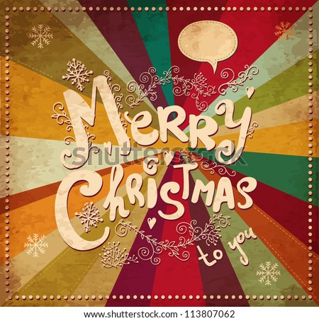 stock vector : Vintage vector Christmas card