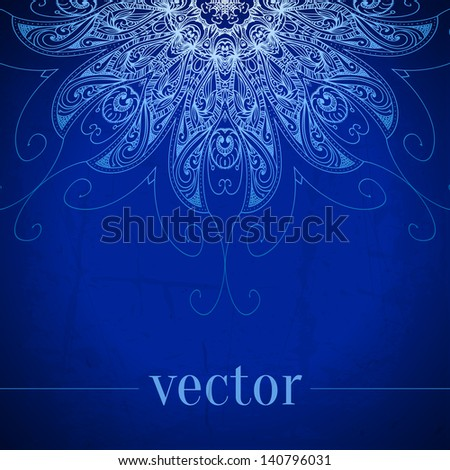 vintage vector circle floral