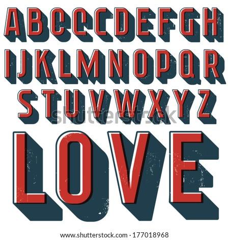 vintage vector decorative font