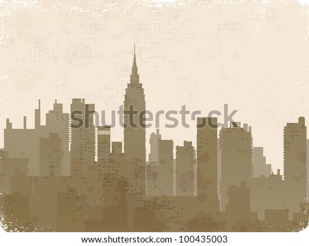 Vintage vector image of silhouette style of old photos