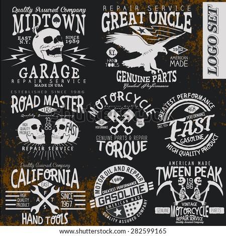 vintage vector logo set for t...