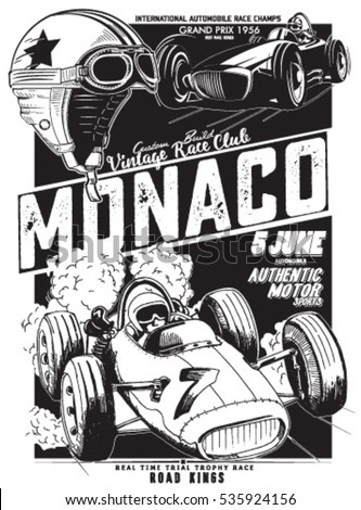 vintage vector monaco race