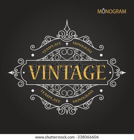vintage vector monogram