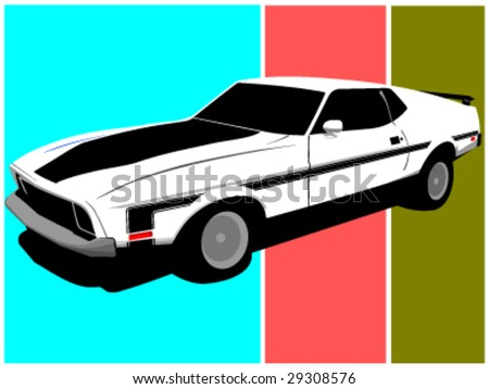 vintage vector muscle car