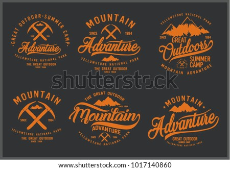 Vintage vector of wilderness and nature exploration