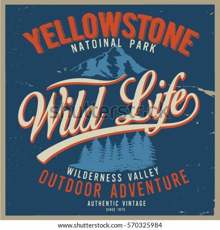 vintage vector of wilderness...